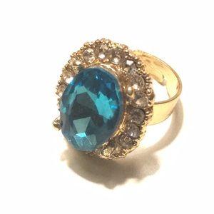 Jewelry - Fashion Ring Topaz Oval Diamond Adjustable 7+